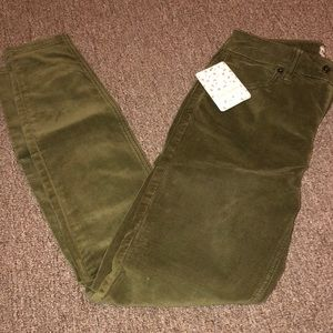 Free people olive green Corduroy pants